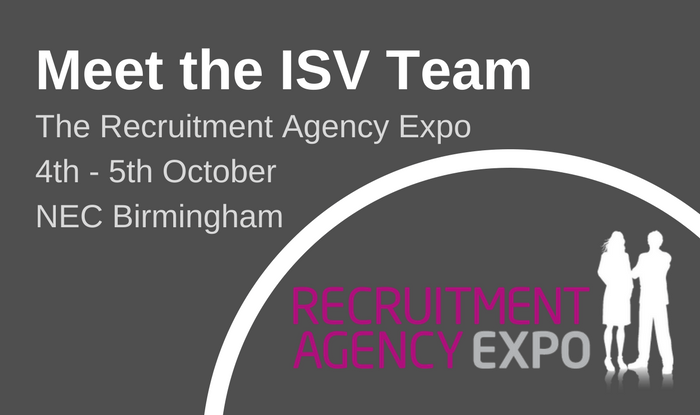 Come and meet ISV at the Recruitment Agency Expo...