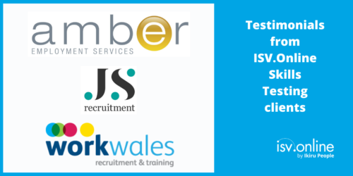 Testimonials from ISV.Online Skills Testing clients